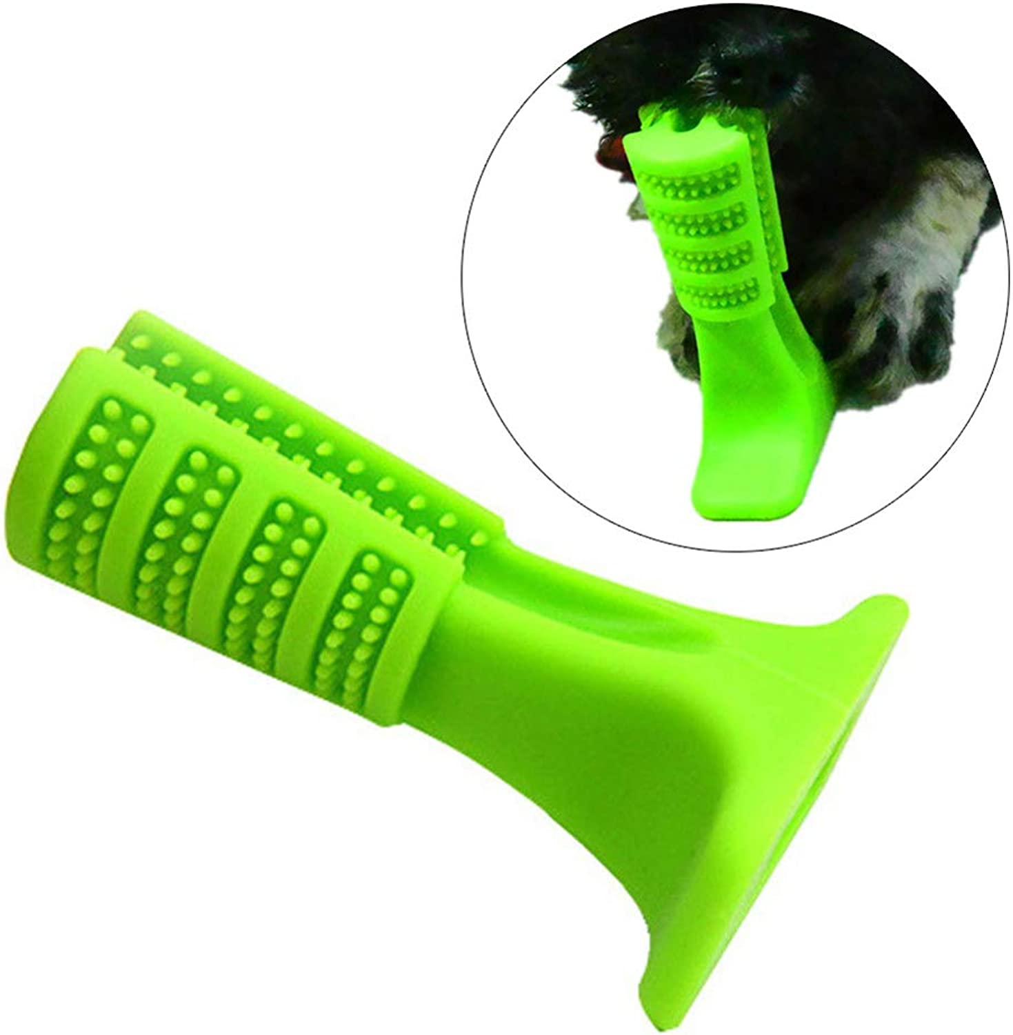 GSPet Bone Shape Dog Toothbrush Brushing Stick Tooth Cleaning Puppy Pets Oral Care  L