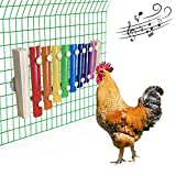 Vehomy Chicken Xylophone Toy for Hens Wood Xylophone Toy with 8 Metal Keys Chicken Coop Pecking Toy Chicken Coop Pecking Toy