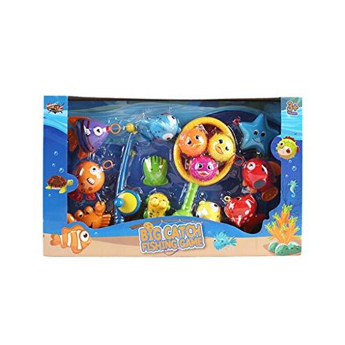 VICKY-HOHO Kinder pädagogische Bad Angeln Spielzeug Set Umweltschutz Spaß Angeln Spielen (15PC) Spielzeug und HobbysBad Spielzeug