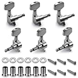 TIMESETL 6 Pieces Guitar Machine Heads Knobs Guitar String Tuning Pegs Machine Head Tuners for Electric or Acoustic Guitar (3 Left + 3 Right)