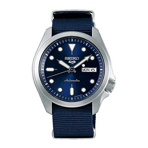 Seiko Herren Analog Automatik Uhr mit Nylon Armband SRPE63K1
