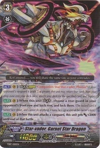 Cardfight   Vanguard TCG - Star-vader, Garnet Star Dragon (TD17 001EN) - Trial Deck 17  Will of the Locked Dragon by Cardfight   Vanguard TCG