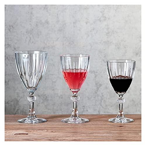 ZIS Vidrio Vintage Europeo Copa de Vino Creativo Diamante Copa de Vidrio Copa de Vidrio de Cristal Triángulo de Vino de Cristal de Vino de Cristal (Capacity : 301 400ml, Color : 3PCS)