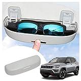 SHAOHAO Porta occhiali da sole per Jeep Compass interno porta occhiali (grigio)