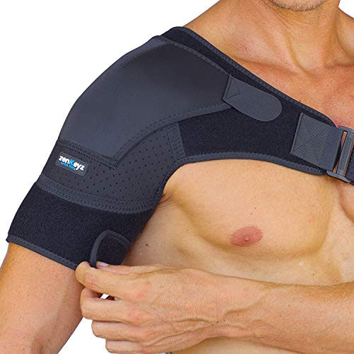 Shoulder Brace for Men Women - for Torn Rotator Cuff Support,Tendonitis, Dislocation, Bursitis, Neoprene Shoulder Compression Sleeve Wrap by Zenkeyz (Black, Small/Medium)