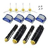 XUNLAN Durable Kit de Accesorios de reemplazo Fit para Irobot Roomba Vacuum Cleader 600 Series 690 680 660 651 650 y 500 Series Wearable (Color : 16pcs)