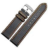 Cinturino per orologio sportivo in fibra di carbonio per uomini e donne 18/20/21/22/23/24mm, Nero arancione, 20MM, Cinturino
