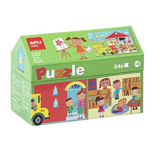APLI Kids - Escuela Puzle Casita, 24 Piezas, Multicolor, 17352 (Productos de oficina)