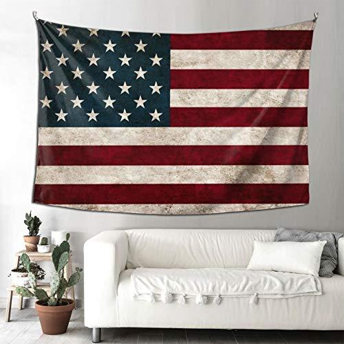 Hongfeimaoyi Tapices de bandera americana para decoración de sala de estar, dormitorio para casa, por estampado de 200 x 150 cm, estilo retro vintage