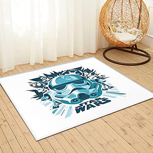Large Puzzle Alfombra peluda de Star War, alfombra de piel de conejo sintético natural ultra suave, alfombra mullida de lujo para sala de estar, dormitorio, cama