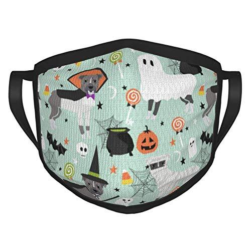 Luoquan Pitbull - Pasamontaas para disfraz de Halloween para perro, vampiro, momia, para adultos, bandana para la boca, cubierta protectora para mujeres y hombres