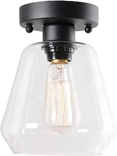 Best flush mount clear glass light fixture Reviews