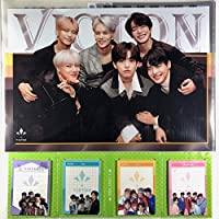 VICTON ビクトン ヴィクトン グッズ / A4 クリアファイル + 4つ折り メモパッド (4連 メモ帳) セット - A4 Size Clear File Folder + Quarto Memo Pad (Mini Book Style) [TradePlace K-POP 韓国製]