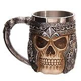 Itian Grande pichel de cráneos, Jarra de cerveza, diseño de calavera, Patrón de 3D...
