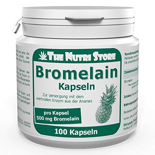 Bromelain 500 mg vegane magensaftstabile Kapseln 100 Stk. - Zur Versorgung mit dem wertvollen Enzym aus der Ananas