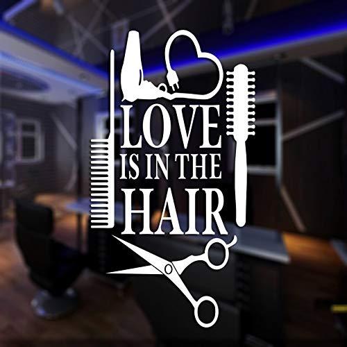 haotong11 RTE de Cabello Carteles Vinilo Arte de la Pared Decoración Decoración Mural Pegatina para la Pared peluquería Pegatina de Cristal peluquería peluquería Pegatina de Pared 58x104cm