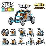 Solar Roboter Spielzeug 12-in-1 DIY Roboter Kit Lernspielzeug 190 Stück STEM Wissenschafts...