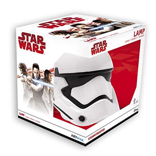lampada Star Wars 3D Stormtrooper Primo Ordine 2 luce bianca 17,5x15x17cm