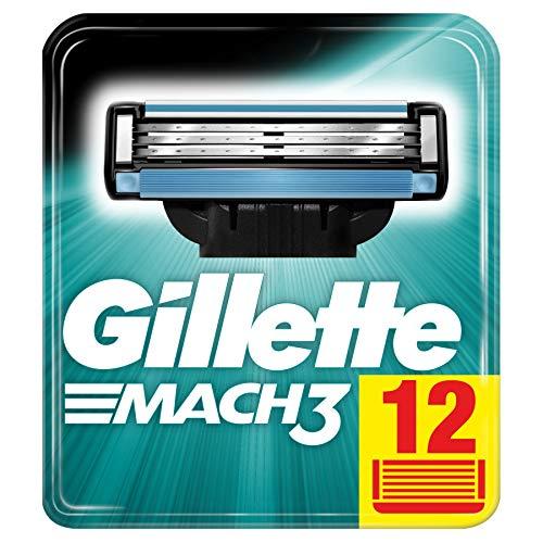 Gillette Mach3 Rasierklingen für Männer, 12Stück