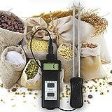 Feuchte und Temperatur Messgerät Tester Prüfer (Getreide, Futtermittel, Lebensmittel) Weizen/Hafer Heu/Stroh Kaffee/Mehl/Reis... F15-FBA