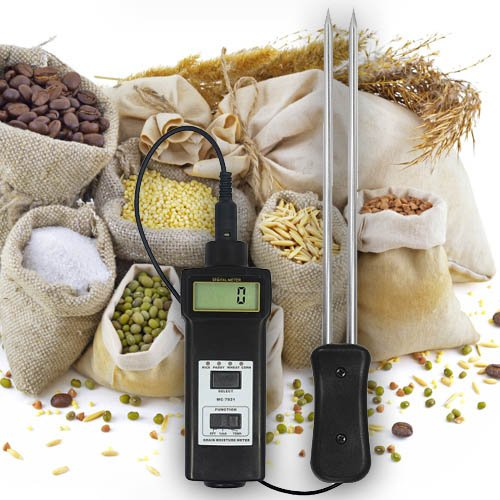 Vochtige en temperatuurmeter tester (rijst, voermiddelen, levensmiddelen) tarwe/haver hooi/stro koffie, meel en rijst. F15