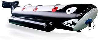 JYNselling Inflatable Banana Boat Raft Towable Tube Float Flying Fish Hunter + Blower