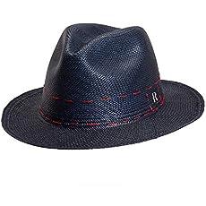 Cuenca Sombrero Mujer Tejido a Mano Sombrero de Paja Estilo Fedora RACEU ATELIER Sombrero Panam/á Cuenca Natural Montecristi