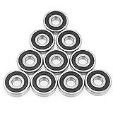 10pcs 6200-2RS Mini cuscinetti a sfera in acciaio Double Side Cuscinetti a sfere a gola pr...