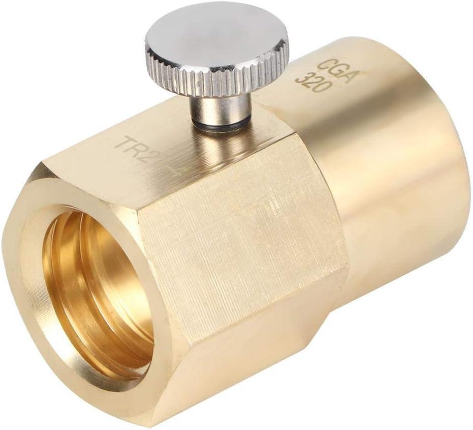 gut abdichtender Soda-Wasser-Zylinder-Adapter f/ür Soda-Zylinder CO2-Adapter Soda-Zylinder-Adapter CGA320 to TR21.4