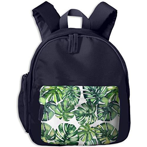 XCNGG Lightweight Kids Kindergarten Backpacks Hawaiian Flowers Herbs Printed Bookbag for Boy