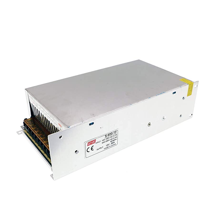12V 50A Switching Power Supply LED Power Supply Board 600W AC/DC for Security System Monitoring Equipment, Surveillance Camera, LED Lights