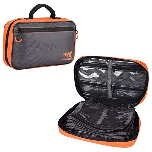 KastKing KKBS-BB-6S Bait Boss Lure Bag Utility Binder Tackle Bag - Soft Bait Binder - Fishing Gear Bag, Self-Healing Zippers & Padded Handle Design