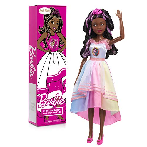 Barbie 28-inch Best Fashion Friend Unicorn Power Doll, Black Hair, Amazon Exclusive
