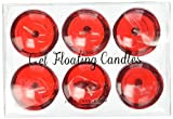 Zest Candle 6-Piece Folding Candles, 3-Inch, Clear Red Gel