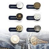 Lohas Select - Pack de 6 extensores de cintura para pantalones elásticos, tejanos