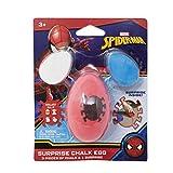 Marvel Spiderman Mavel Surprise Chalk, 3 Piece Sidewalk Chalk with Toy Surprise