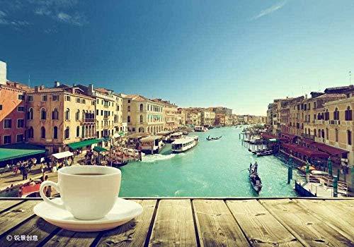 Voor Volwassenen Bij Zonsondergang Italiaanse Koffie Voor Vriend Kid Family Legpuzzel - 1000 Stukjes-