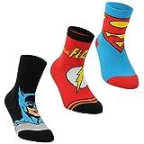 DC Comics Niños Superman Calcetines Clásicos Paquete De 3 Multicolor 33-39