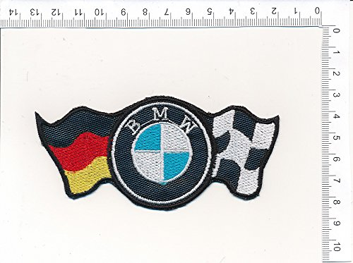 Applikation Aufbügler Patches Stick Emblem Aufnäher Abzeichen 'BM.W FLAGS