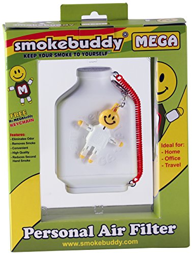 Smoke Buddy Mega Personal Air Purifier Cleaner Filter Removes Odor - White