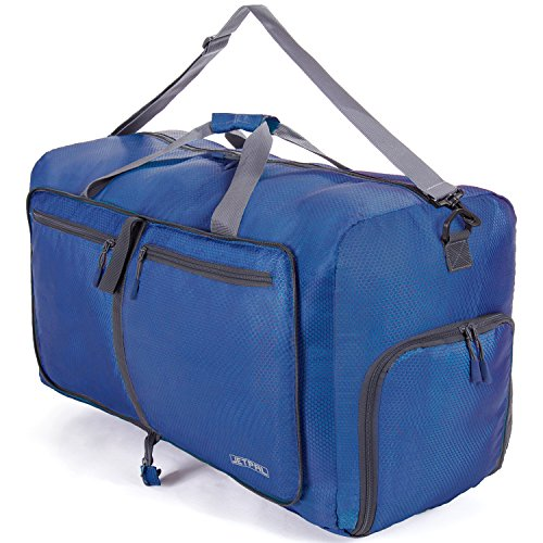 JETPAL Espacioso Plegable Bolsa de Viaje–Elegir su tamaño, Azul
