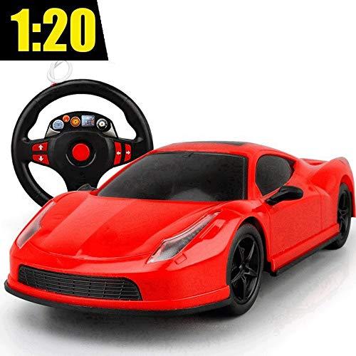 GRTVF Fernbedienung Auto Kinderspielzeug RC Auto 1:20 Modellauto Funkferngesteuertes Fahrzeug Elektronische Sport Racing Stunt Auto Geschenke Gadget Indoor Outdoor-Spiele (Color : Steering Wheel)