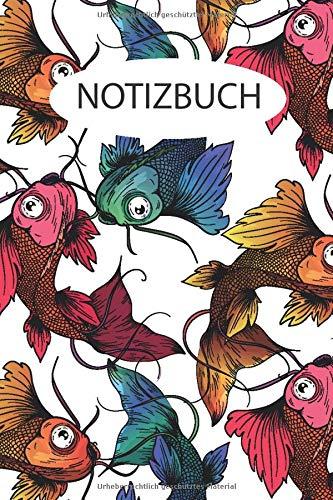 Koi Notizbuch: Blanko Notizbuch mit Kois Fische Cover  120 linierte Seiten   Softcover   ~ A5 Format   schönes Cover
