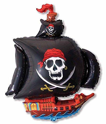 Ballonim® Piratenschiff schwarz ca. 80cm Luftballons Folienballon Party DekorationGeburtstag