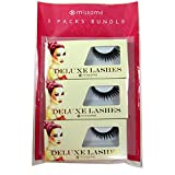 Missamé FRISKY Glamour Flare False Eyelashes Set Handmade with Premium Synthetic Fibers, Black, 3 Pairs
