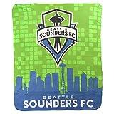 Northwest MLS Lightweight Fleece Throw Blanket (Seattle Sounders (Skyline), One Size)