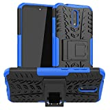 Newlike Nokia 2.3, Back Cover, Premium Real Hybrid Shockproof Bumper Defender Cover, Kick Stand Hybrid Desk Stand (Blue) Back Case Cover forNokia 2.3