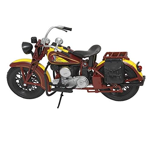 New Ray 1:12 Scale, Die Cast, 1934 Indian Sport Scout Bike (Yellow/Brown)