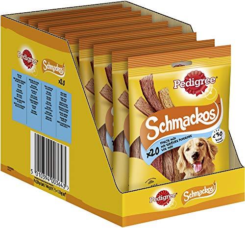 Pedigree Hundesnacks Hundeleckerli Schmackos Fischmix, 180 Stück (9 x 20 Stück)