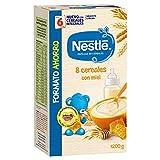 Nestlé Papillas 8 Cereales con Miel, A Partir de 6 Meses, 1200g